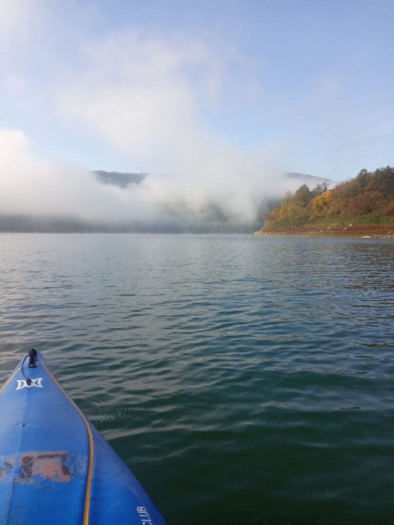 Early morning kayak into the mist on Friday 13th