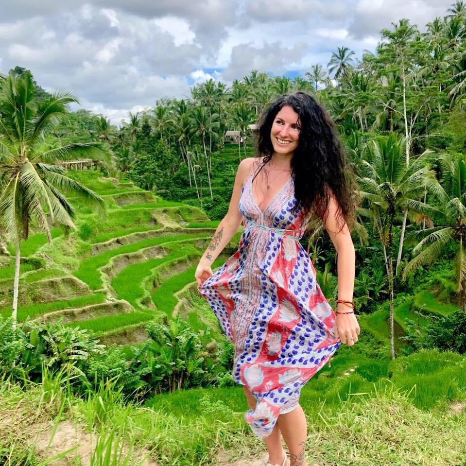Katie in Bali - learning from the masters